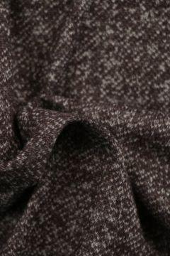 Sweatshirtstoff Melange Braun