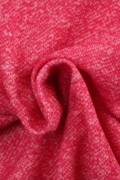 Sweatshirtstoff Melange Coral Pink