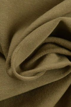 katoenen tricot jersey taupe