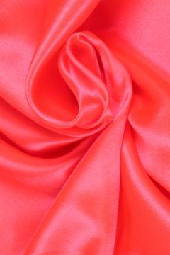 Neon Oranje-Roze Satijn