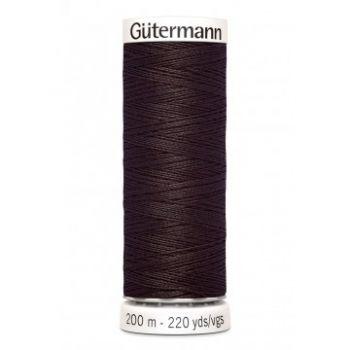 Gütermann 200 meter naaigaren - chocolade