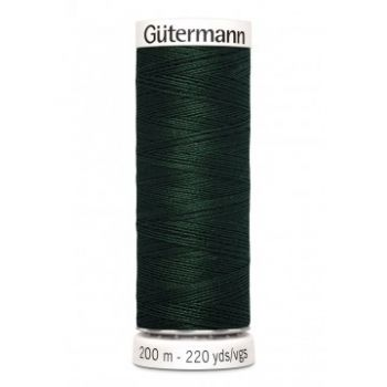 Gütermann 200 meter naaigaren - heel donker groen