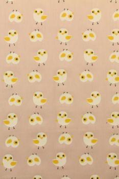 paars katoen met poesjes en konijntjes