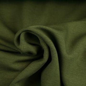 Sweatshirtstoff Moosgrün