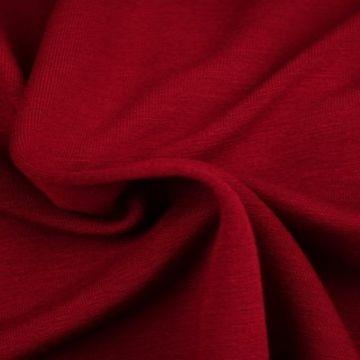 Sweatshirtstoff Dunkel Rot