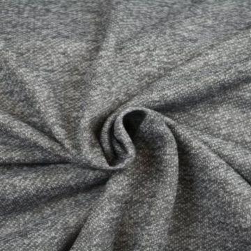 Sweatshirtstoff Melange Grau