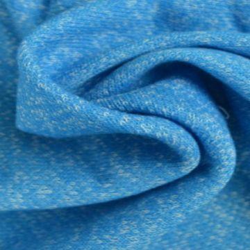 Sweatshirtstoff Melange Aqua