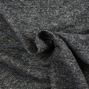 Sweatshirtstoff Melange Antrazit