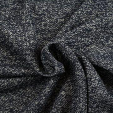 Sweatshirtstoff Melange Marine