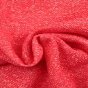 Sweatshirtstoff Melange Gedämpft Rot