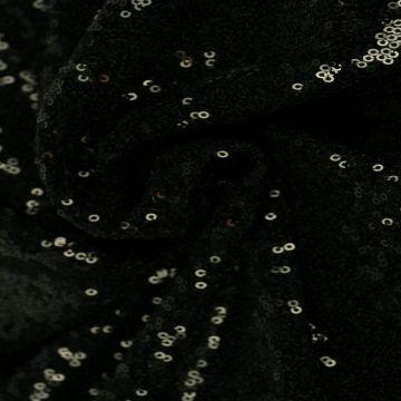 Zwarte Pailletten Stof