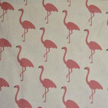Katoenen Canvas witte flamingo's