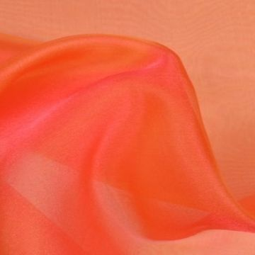 Organza Two Tone orange rosa