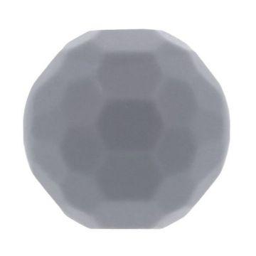 Opry Silikon Perlen Diamant 16mm - Grau