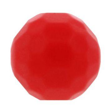 Opry Silikon Perlen Diamant 16mm - Rot