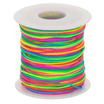 Glanzschnur/ Schnullerschnur 1mm - Regenbogen
