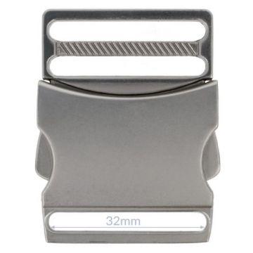 Opry Steckschnalle - Mat Silver - 32mm