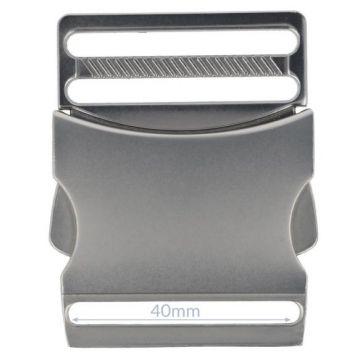 Opry Steckschnalle - Mat Silver - 38mm