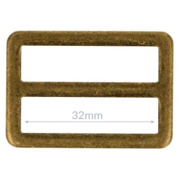 Opry Vierkantring Flache - Old Gold - 32mm