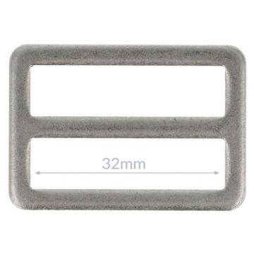 Opry Vierkantring Flache - Mat Silver - 32mm