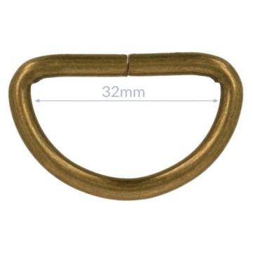 Opry D-ringe - Old Gold - 32mm