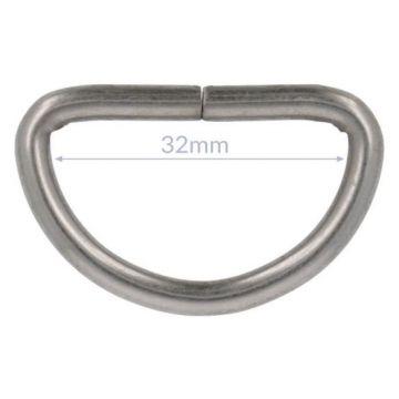 Opry D-ringe - Mat Silver - 32mm