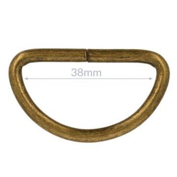 Opry D-Ringe - Old Gold - 38mm