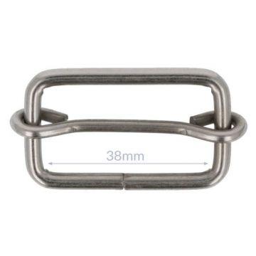 Opry Vierkantring mit Schieberegler - Mat Silver - 38 mm