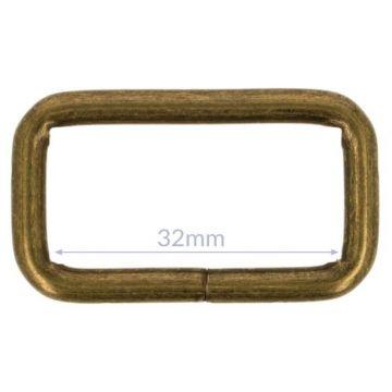 Opry Vierkantring - Old Gold - 32mm