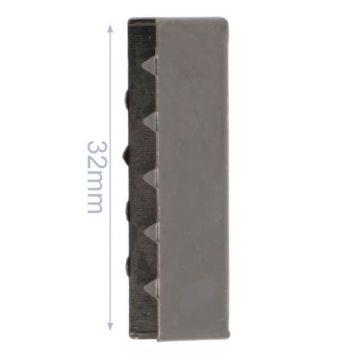 Eindstuk Tassenband- Dark Silver -32mm
