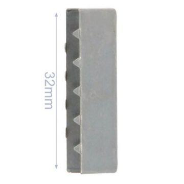 Eindstuk Tassenband-Mat Silver-32mm
