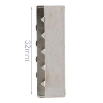 Eindstuk Tassenband-Nikkel-32mm