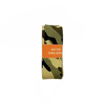 Oaki Doki Schrägband Summer Collection - Military Green - 2m