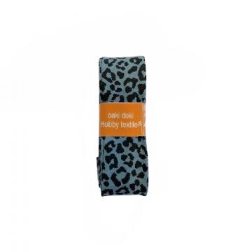 Oaki Doki Schrägband Summer Collection - Leopard Steelblue - 2m