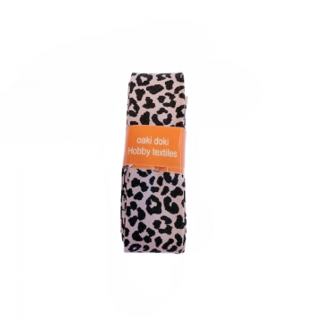 Oaki Doki Schrägband Summer Collection - Leopard Soft Old Pink - 2m