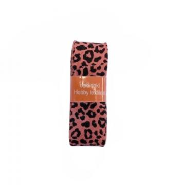 Oaki Doki Schrägband Summer Collection - Leopard Warm Coral - 2m