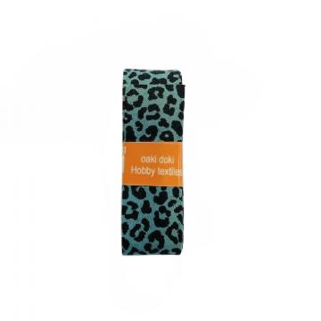 Oaki Doki Schrägband Summer Collection - Leopard Old Green - 2m
