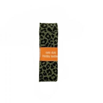 Oaki Doki Schrägband Summer Collection -Leopard Forest Green - 2m