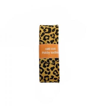 Oaki Doki Schrägband Summer Collection - Leopard Ocher Yellow - 2m