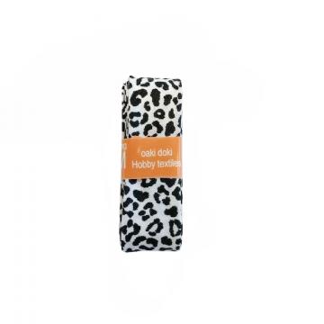 Oaki Doki Schrägband Summer Collection - Leopard White - 2m