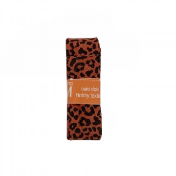 Oaki Doki Schrägband Summer Collection - Leopard Rusty Red - 2m