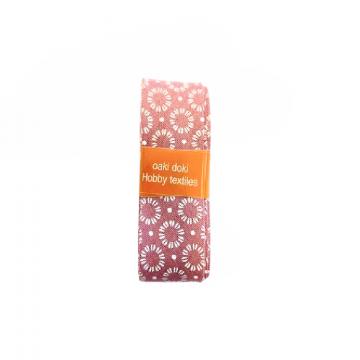Oaki Doki Schrägband Summer Collection - Cirkel Warm Pink - 2m