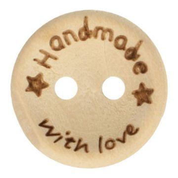 Knöpfe Holz 20mm  - Handmade With Love