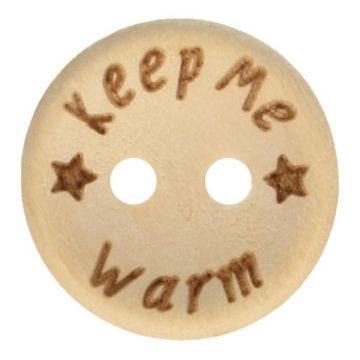 Knöpfe Holz 20mm  - Keep Me Warm
