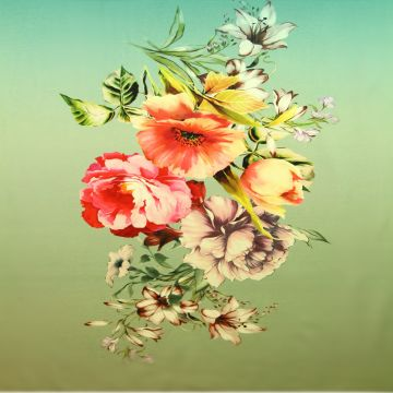 Katoenen Tricot Paneel - The Art of Flowers
