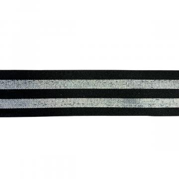 elastiek shimmer zilver 40mm