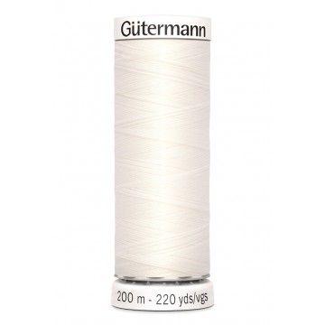 Gütermann 200 meter naaigaren - gebroken wit