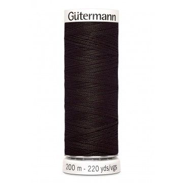 Gütermann 200 meter naaigaren - donker chocolade