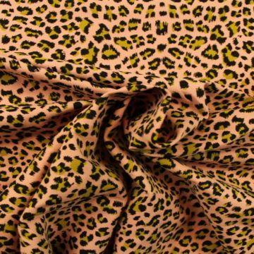 leopard on old pink