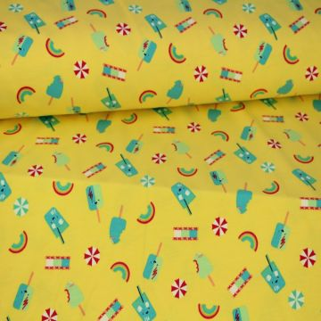 Megan Blue: Ice Cream Day on Yellow